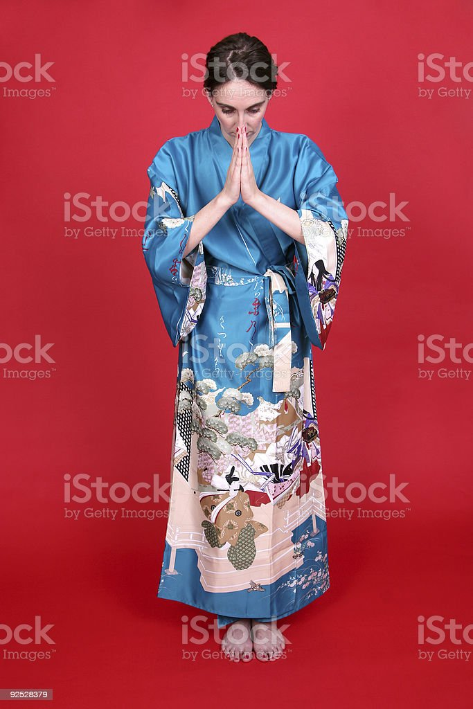 Geisha series: respect. royalty-free stock photo