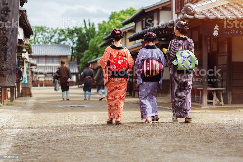 Geishas in Kyoto stock photo