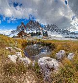 Geisler Group in Geisler National Park, Alps - South Tirol
