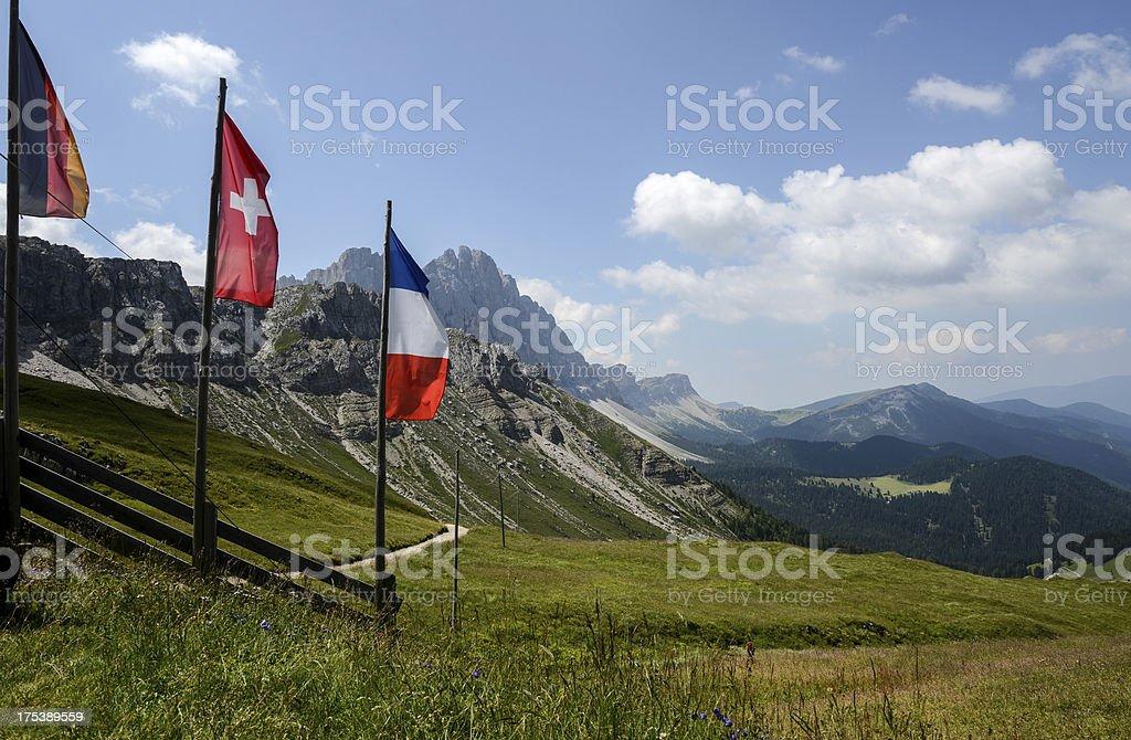 Geislertal (Odle mountains) stock photo