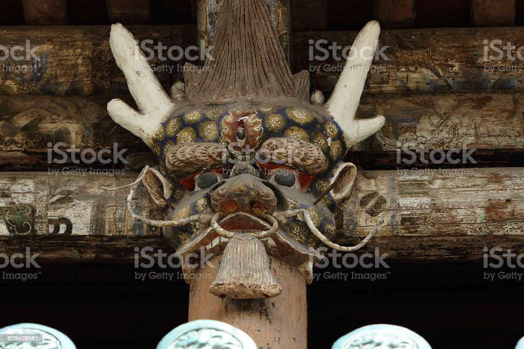 Geister Maske vom Yungang Kloster in Datong China stock photo