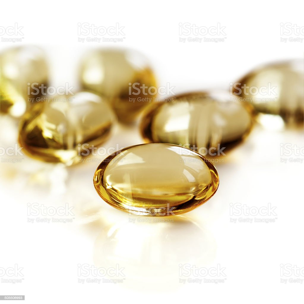 Gel Capsules Isolated stock photo