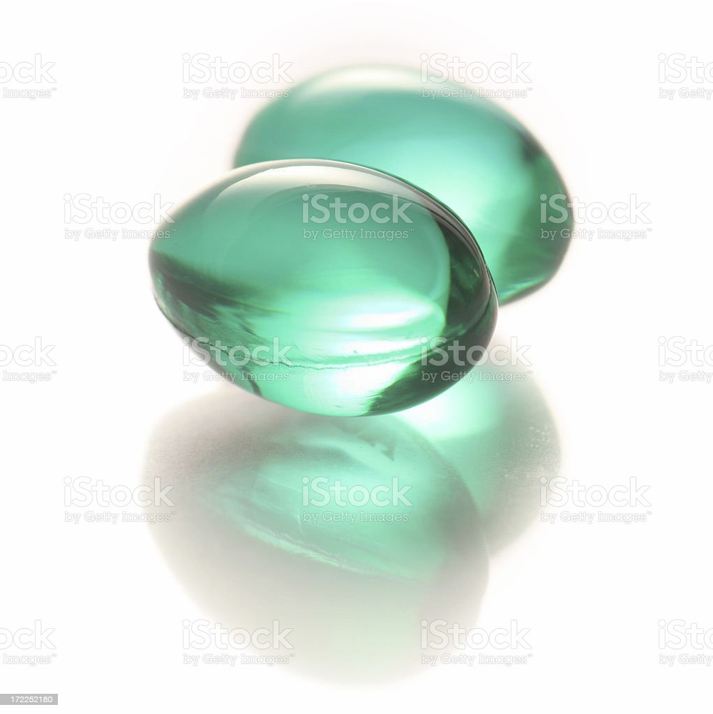 gel capsules stock photo