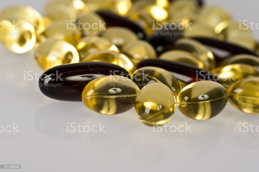 gel capsules royalty-free stock photo