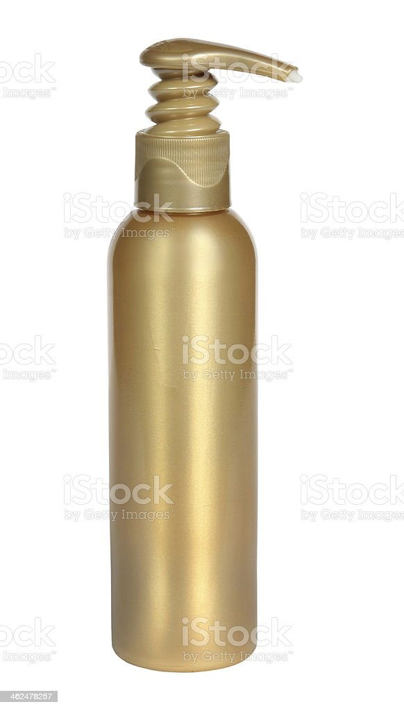 Gel, Foam Or Liquid Soap Dispenser Pump Plastic Bottle White. royalty-free stock photo