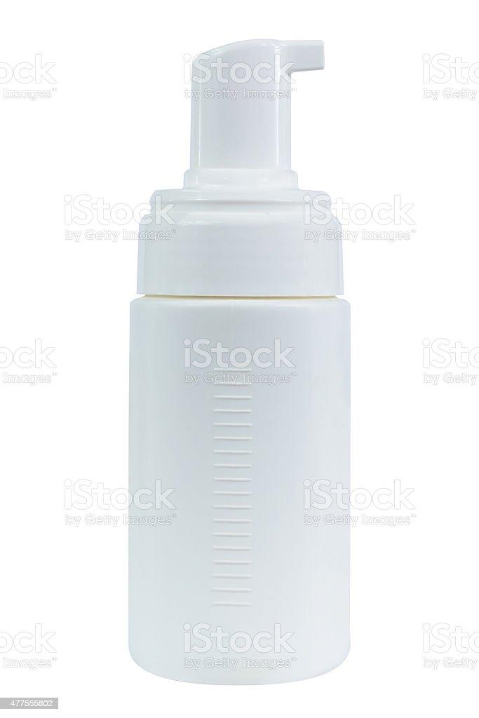 Gel Foam or Liquid Soap Dispenser Pump Plastic white stock photo