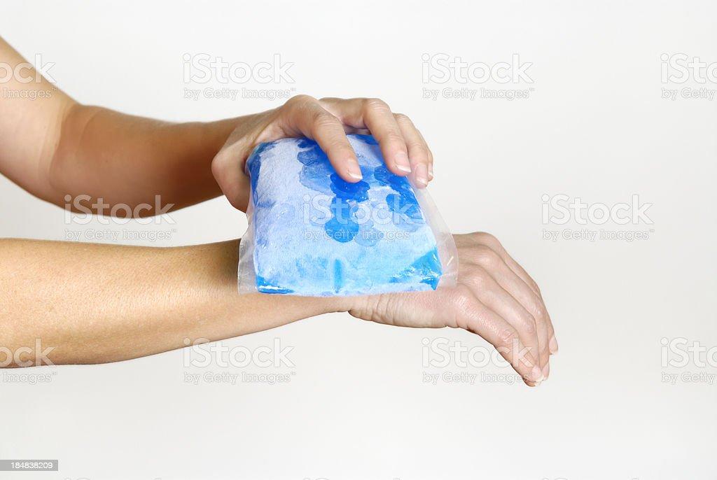 gel pack on wrist royalty-free stock photo
