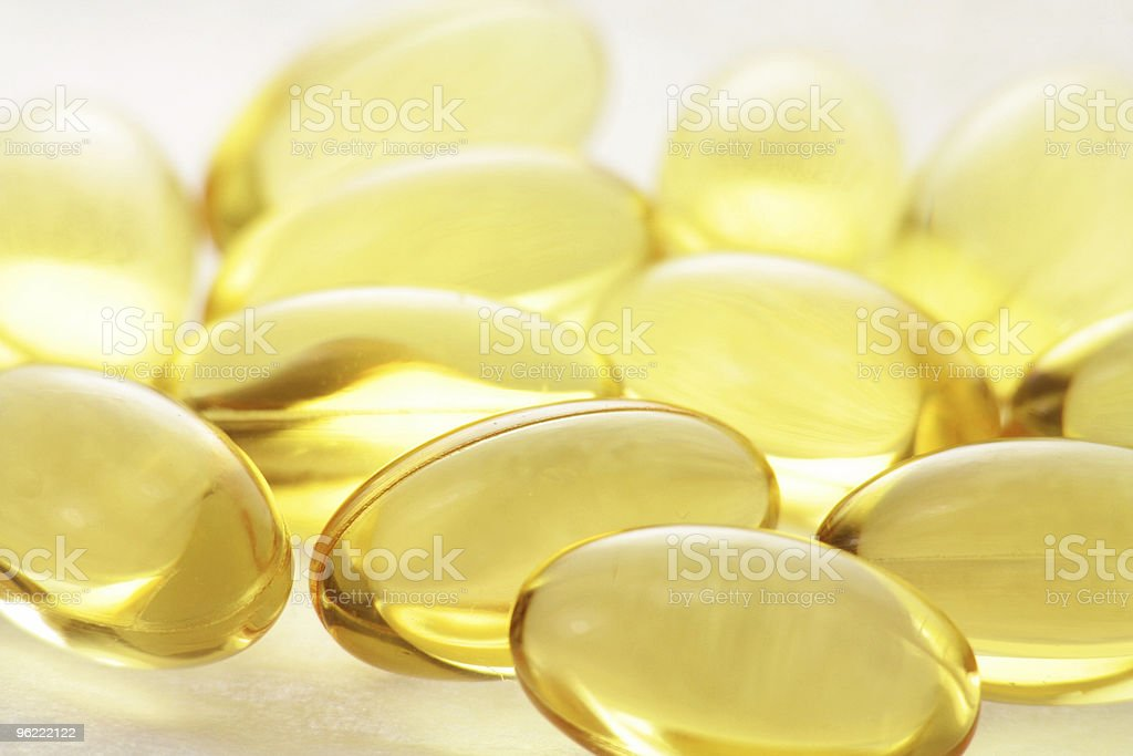 gel pills stock photo