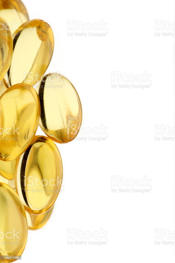 Gel vitamin capsules stock photo