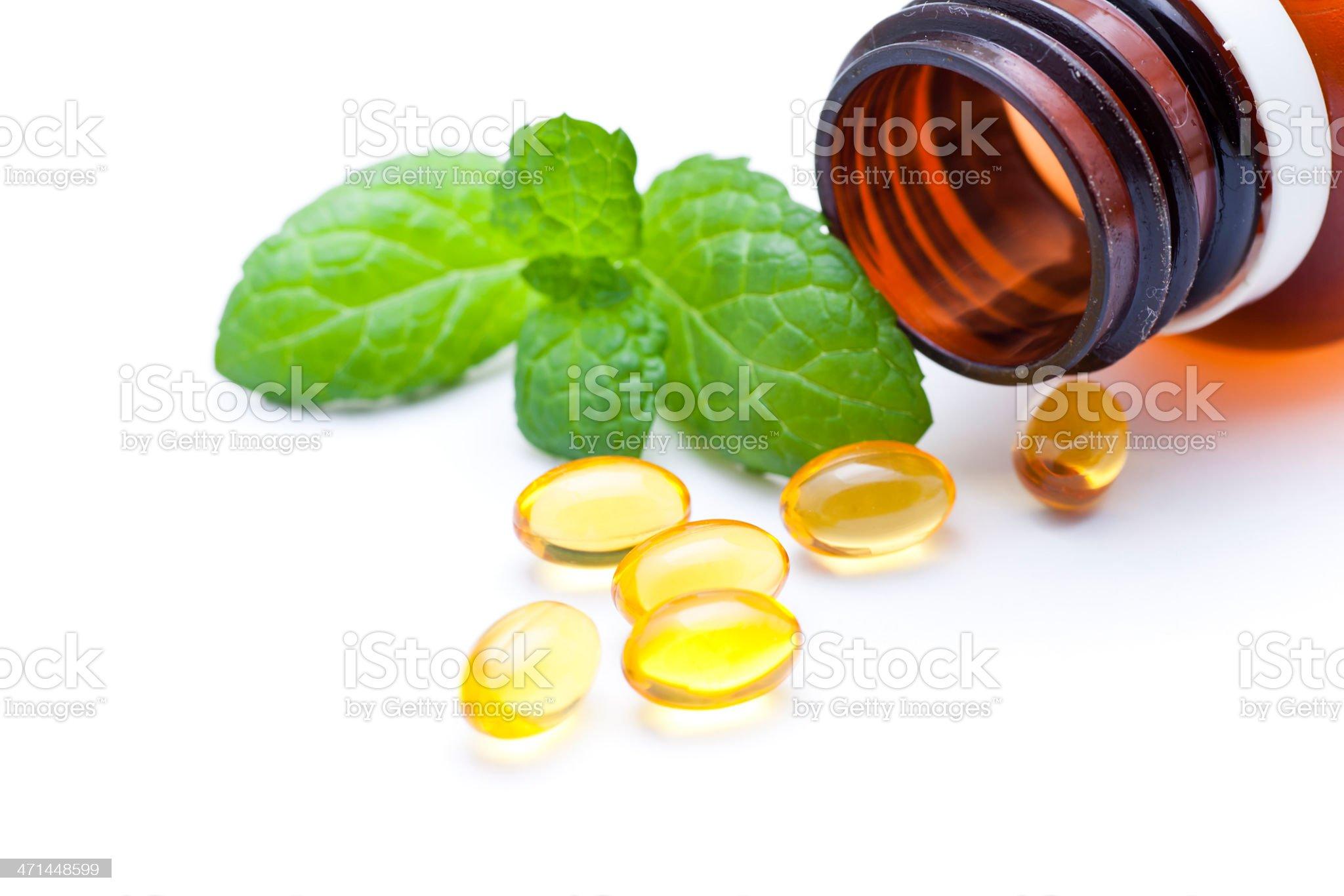 gel vitamin capsules royalty-free stock photo