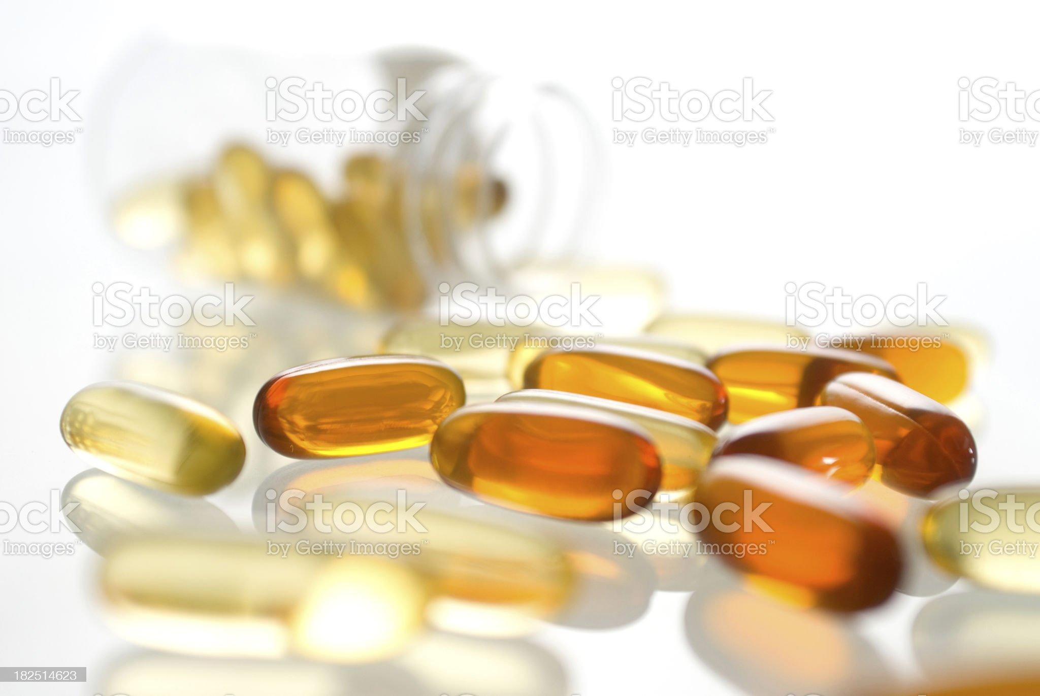gel vitamin supplement capsules royalty-free stock photo