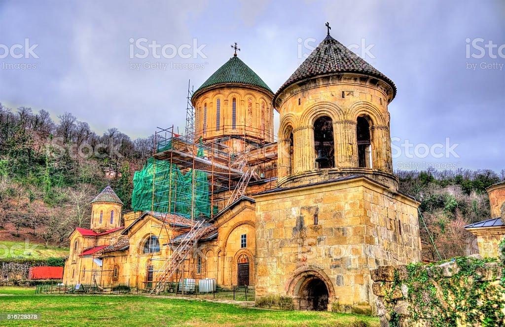 Gelati Monastery in Caucasus stock photo
