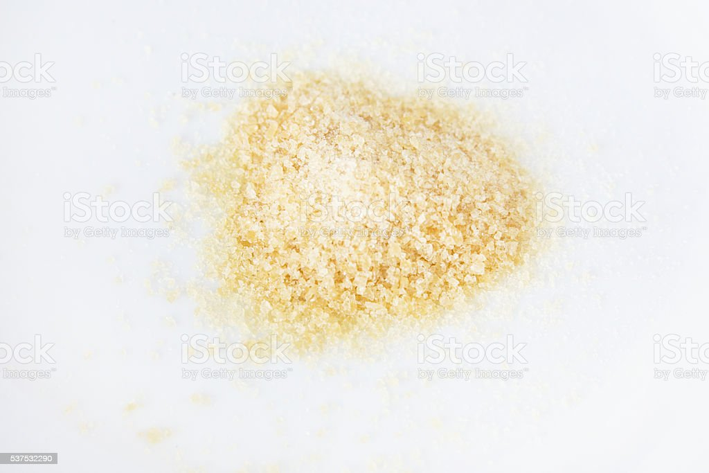 Gelatin powder for anti aging stock photo