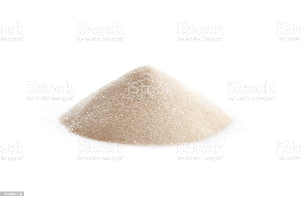 Gelatin powder stock photo