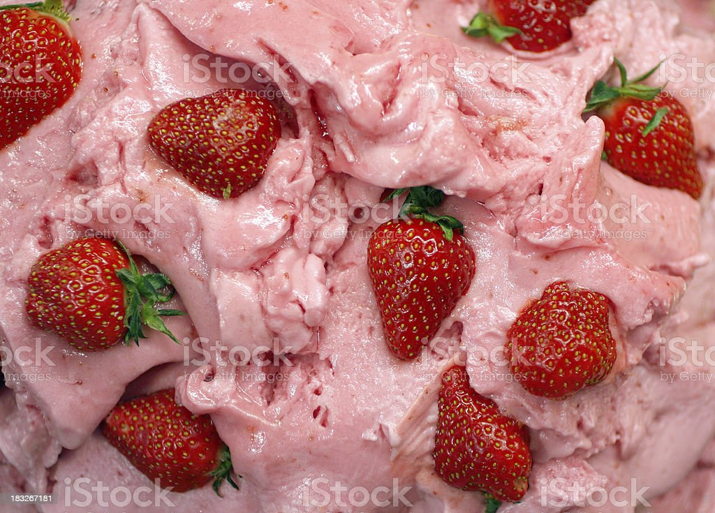 Gelato - genuine Italian ice cream with strawberries royalty-free stock photo