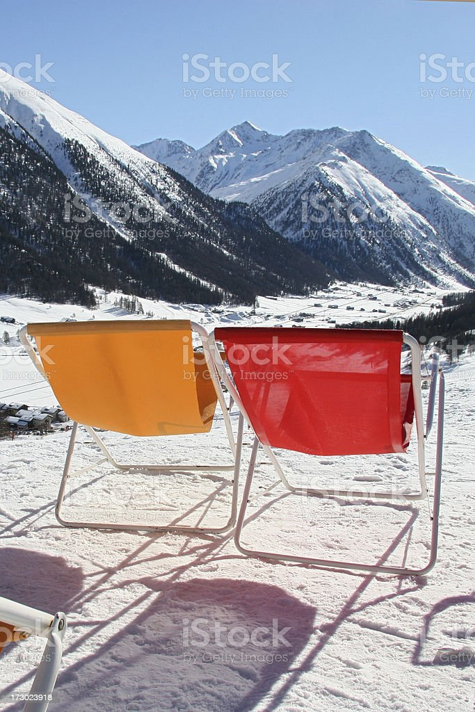 Gelb und Rot royalty-free stock photo
