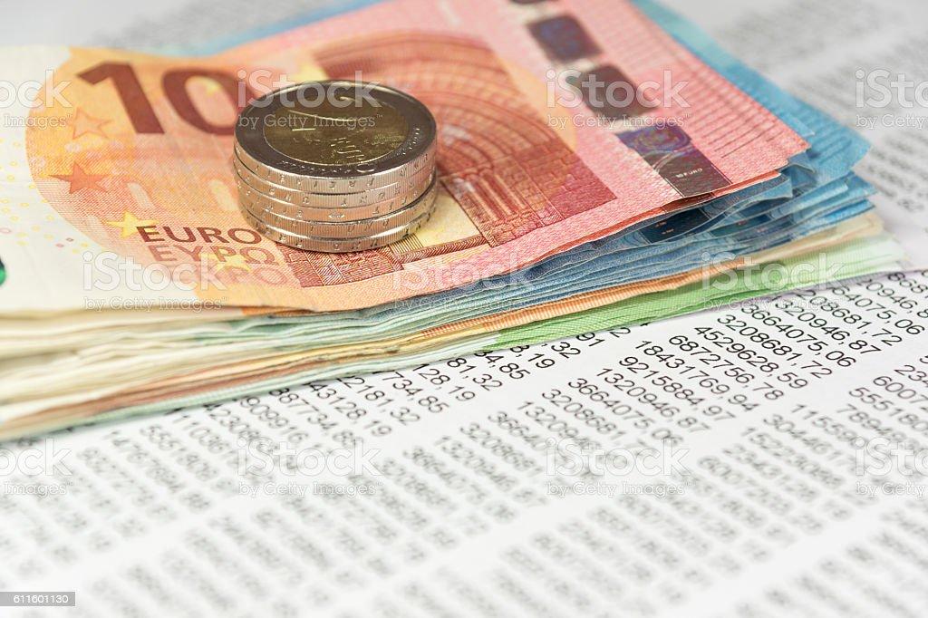 Geld und Finanzen stock photo
