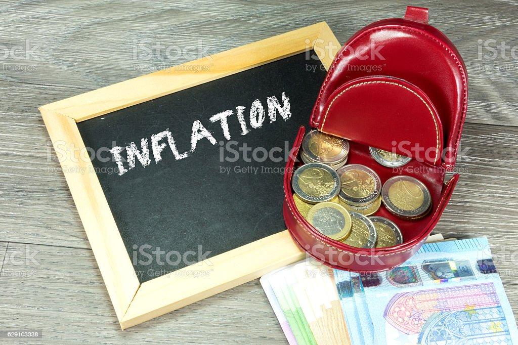 Geld und Inflation stock photo