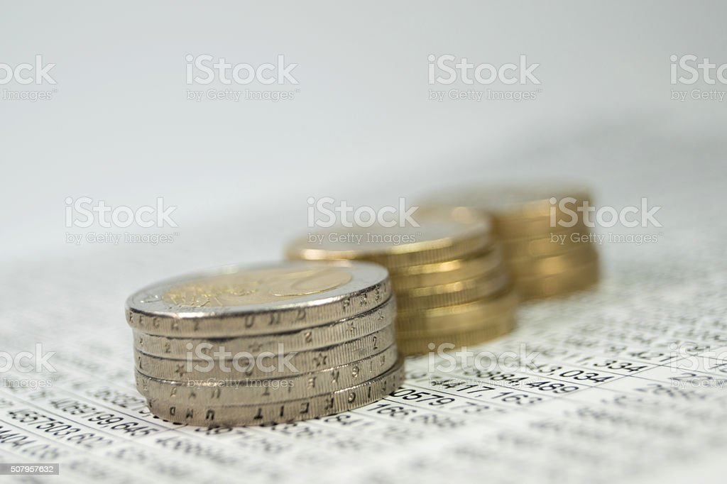 Geld und Statistik stock photo