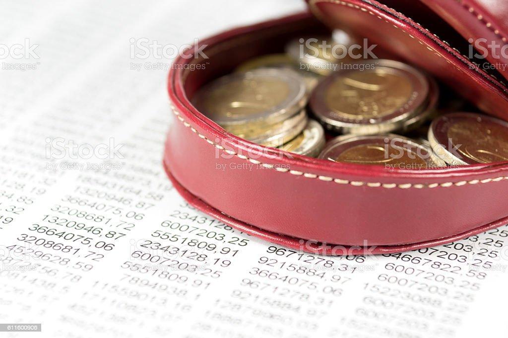 Geldbörse und Geld stock photo