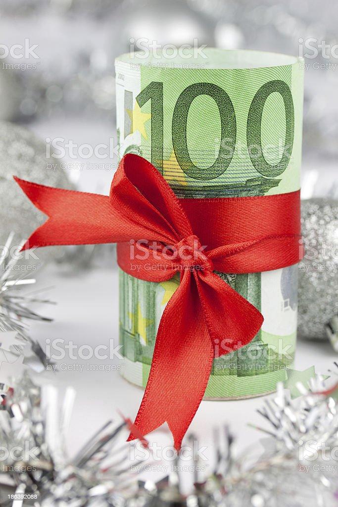 geldgeschenk stock photo