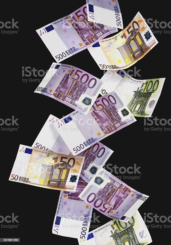 Geldregen stock photo
