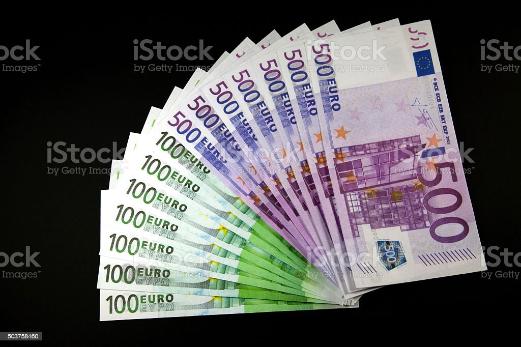 Geldscheine stock photo