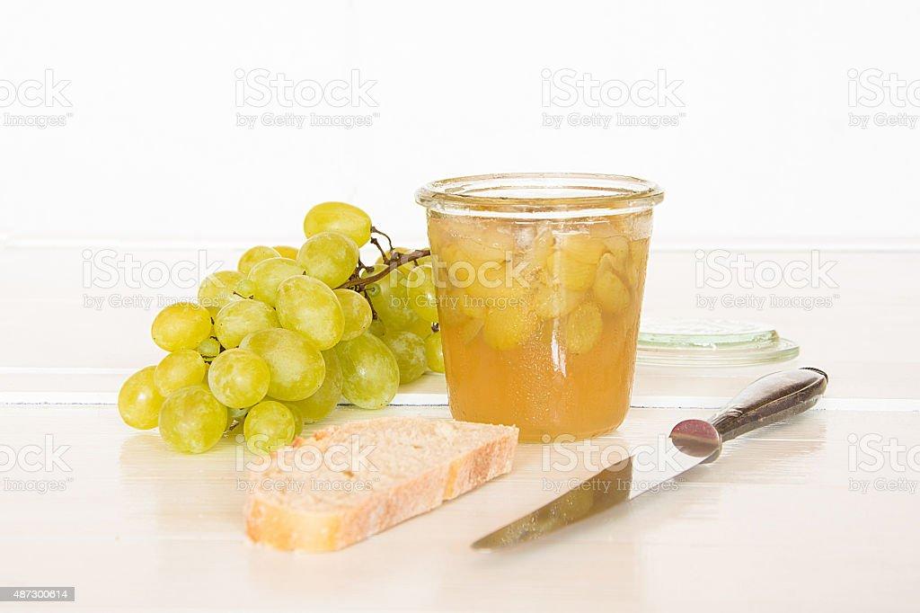 Gelee aus wei?en Weintrauben stock photo