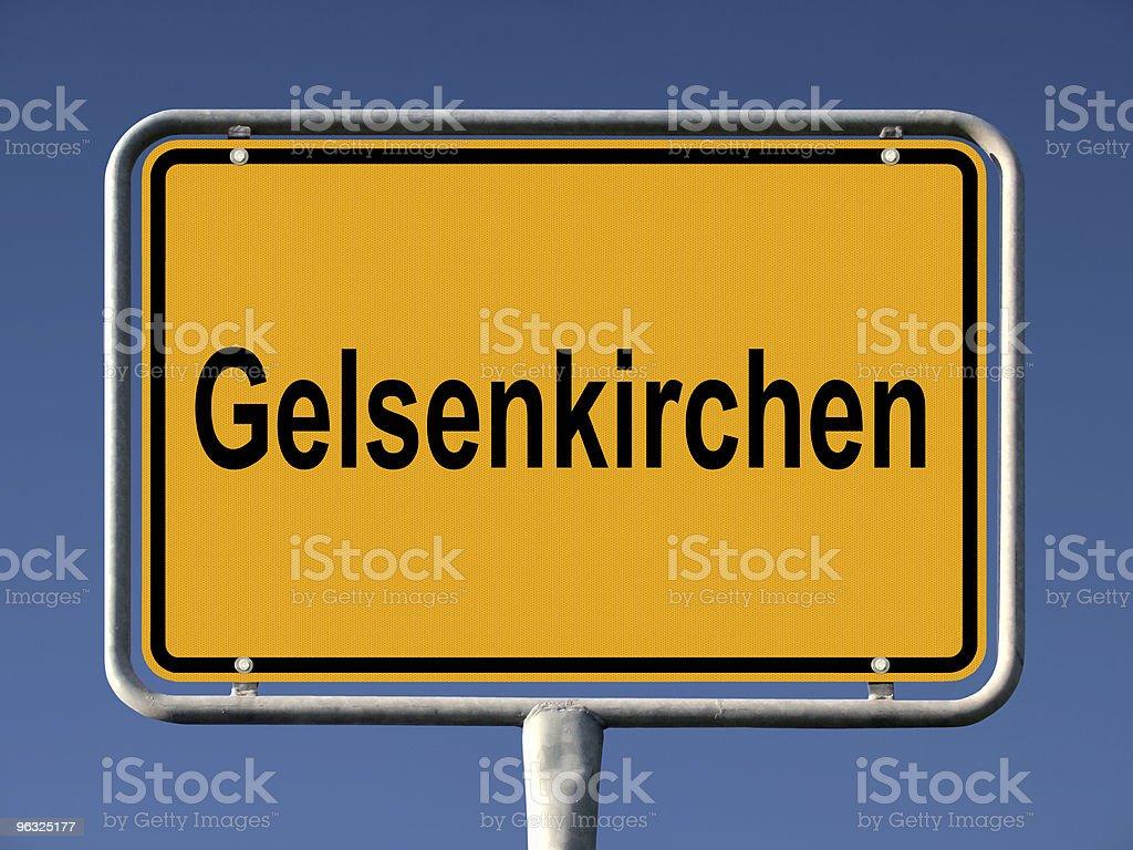 Gelsenkirchen Ortsschild stock photo