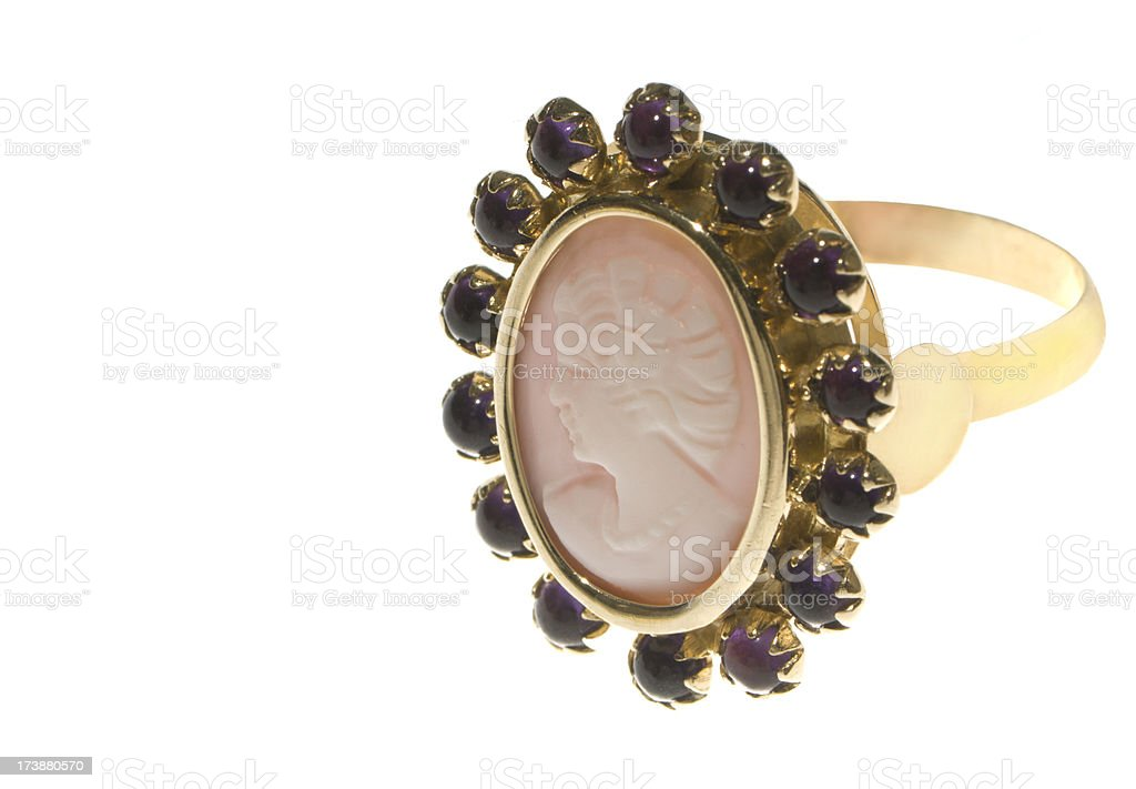 Gem Cameo Ring stock photo