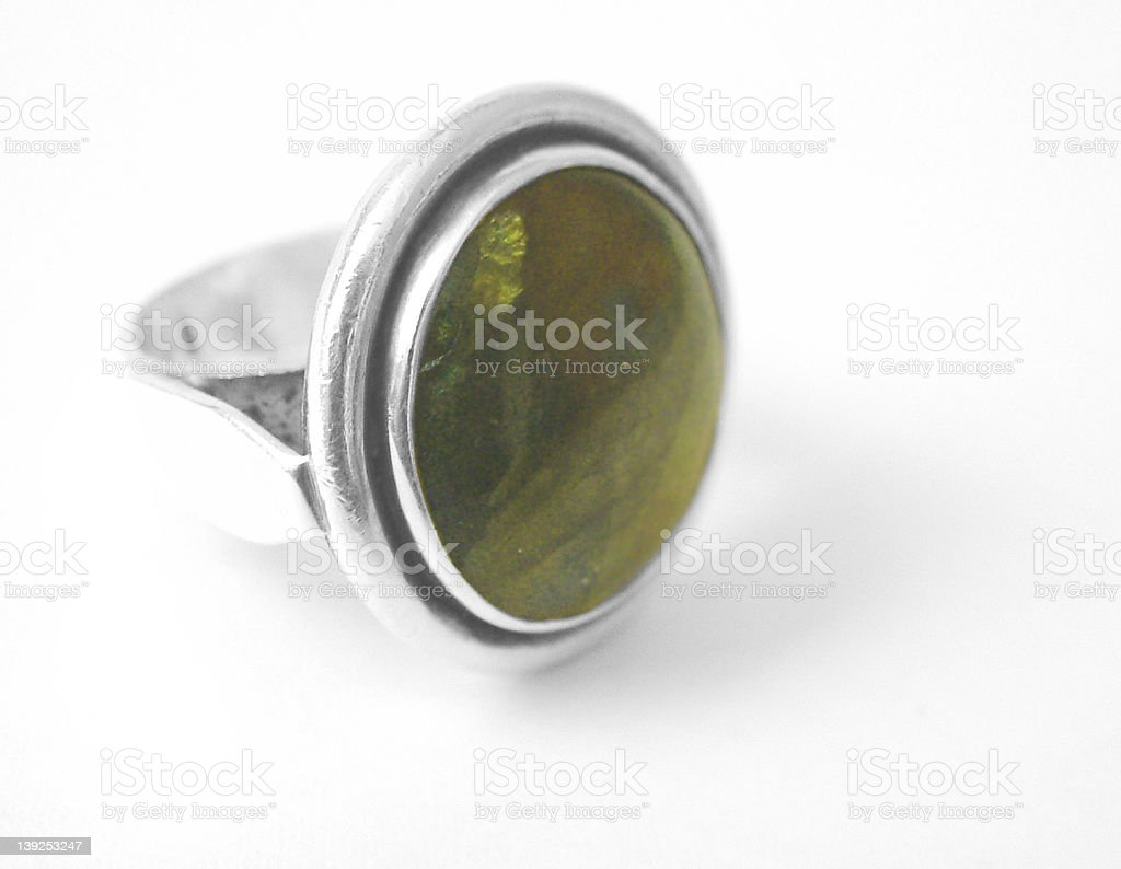Gem stone ring 1 royalty-free stock photo