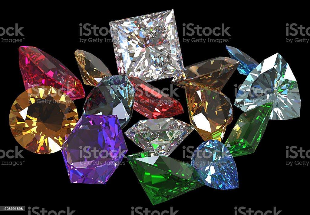 Gem stones stock photo