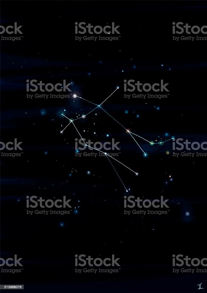Gemini constellation stock photo