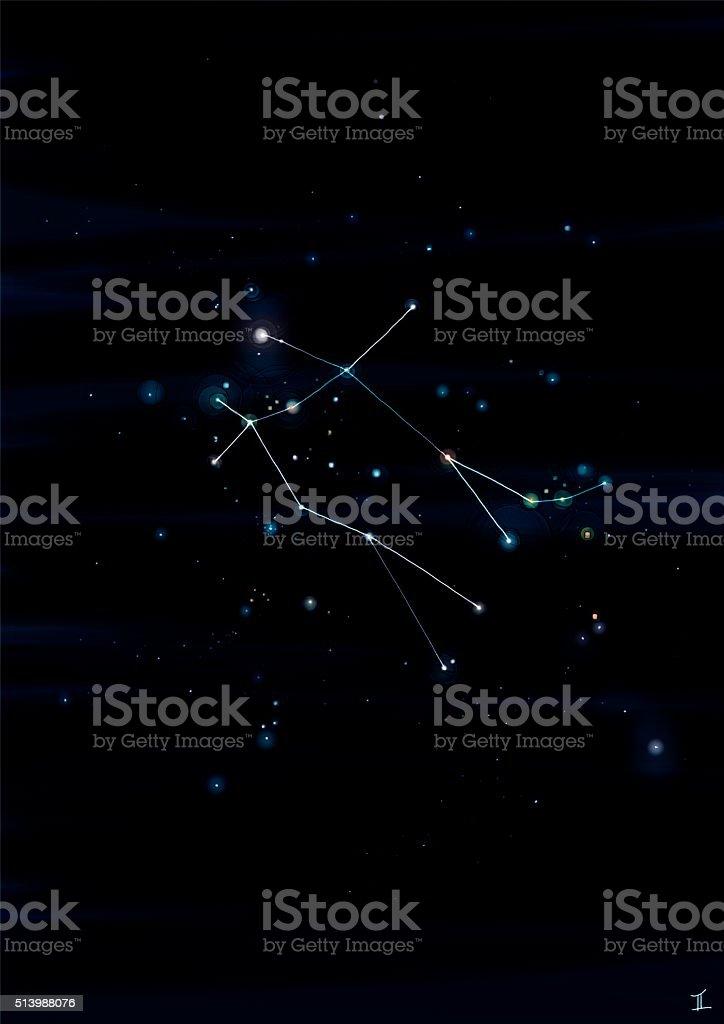 Gemini constellation stock photo