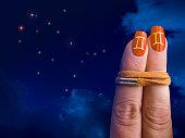 Gemini orange nails