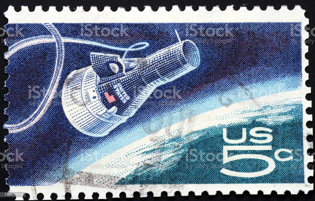 Gemini spaceship royalty-free stock photo