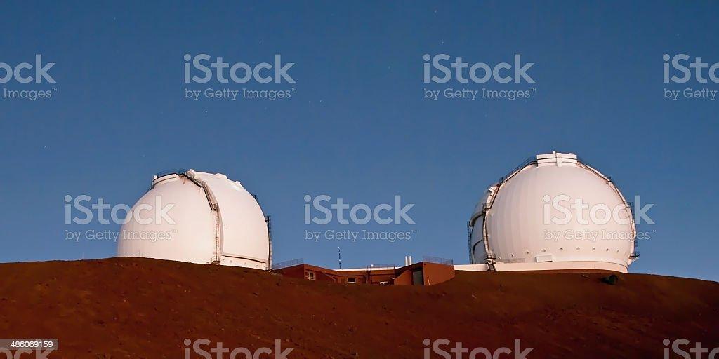 Gemini telescope in Mauna Kea Observatory on Big Island Hawaii royalty-free stock photo