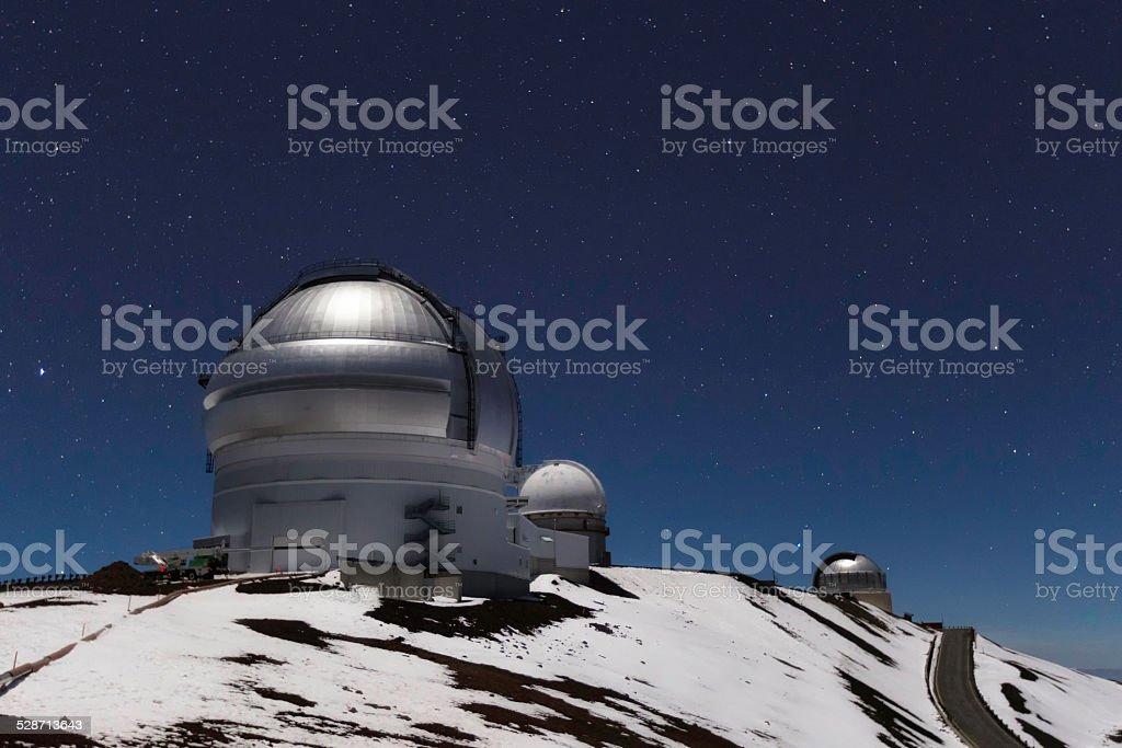 Gemini Telescope on Mauna Kea stock photo