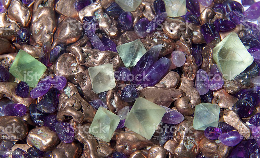 Gems and minerals stock photo