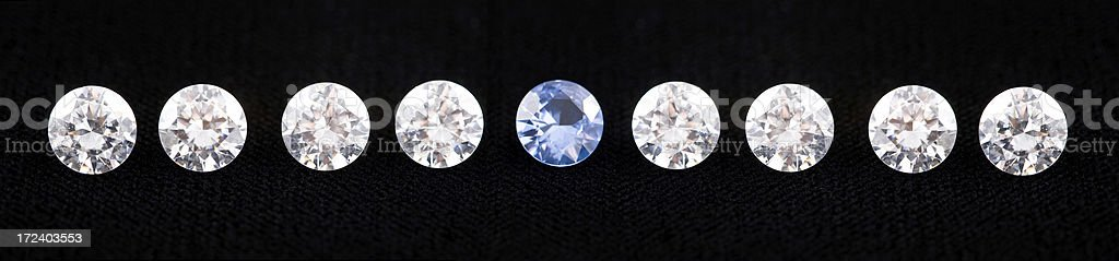 Gems in a row royalty-free stock photo