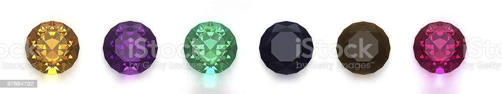 Gems isolated on white background royalty-free stock photo