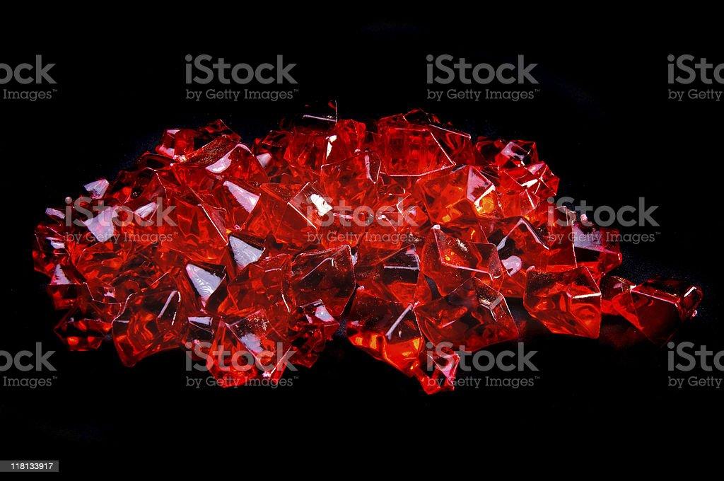 Gems on Black stock photo