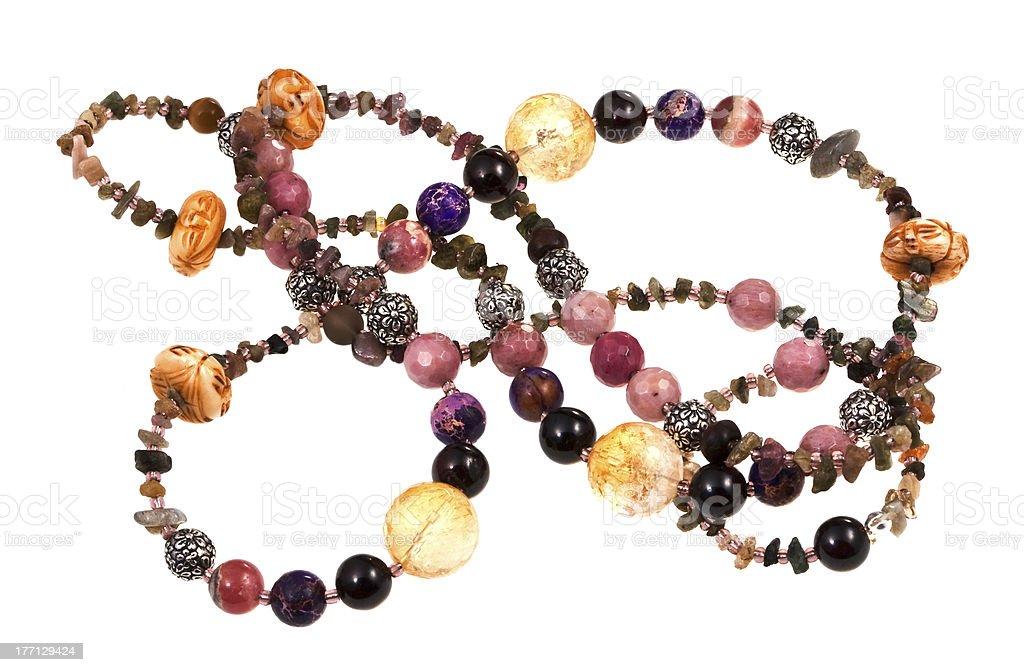 gemstone lady's bead stock photo