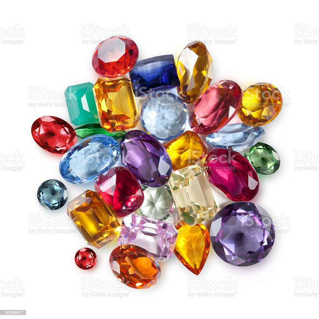 Gemstones stock photo