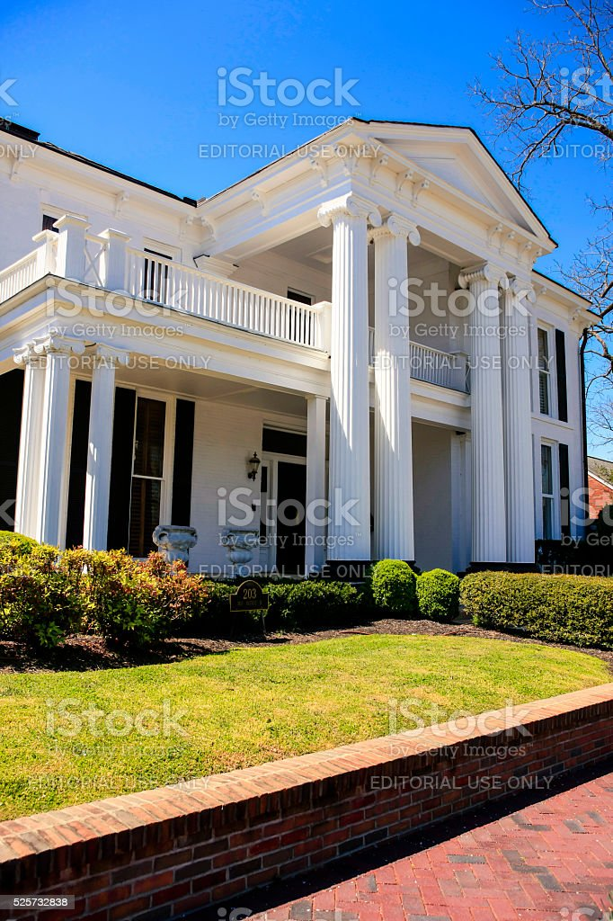 Gen. Dickinson house on 3rd Avenue S in Franklin, TN. stock photo