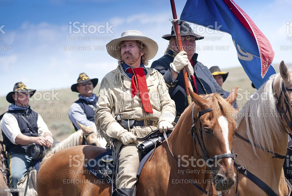 Gen. George Custer at Little Bighorn stock photo