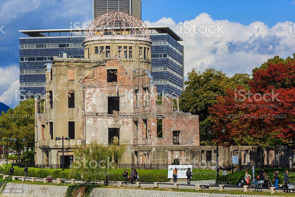 Genbaku Dome at Hiroshima Peace Park stock photo