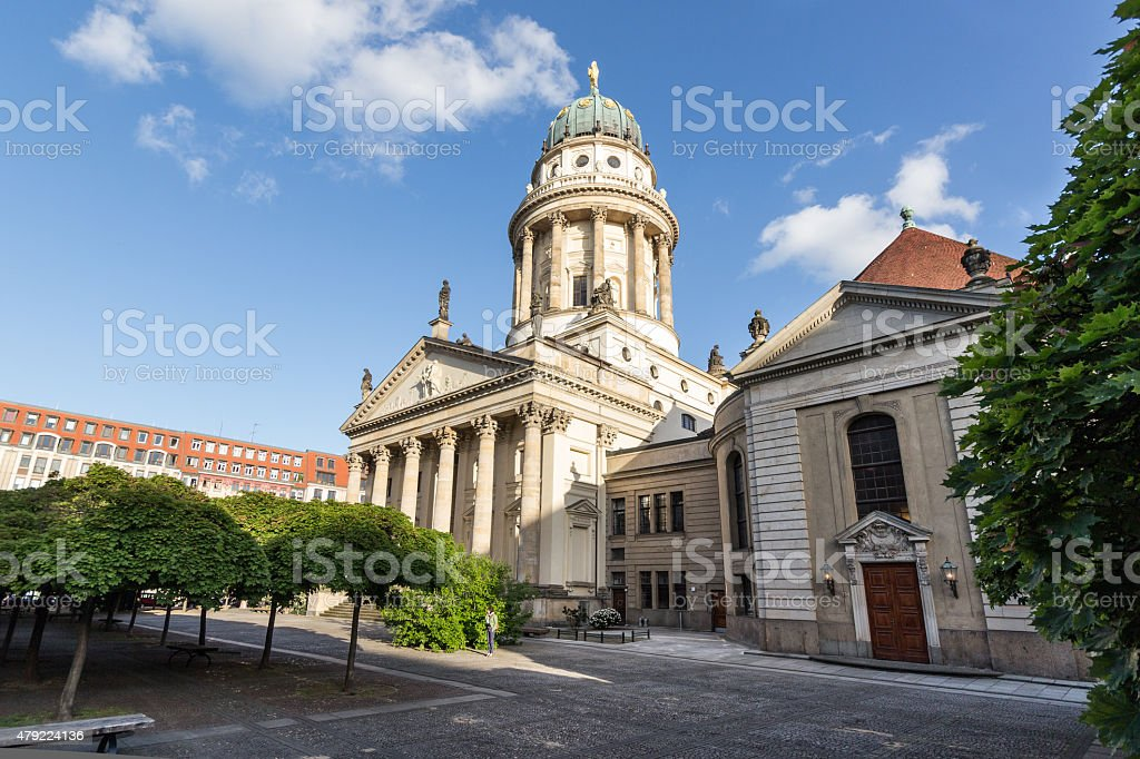 Gendarmenmarkt, Berlin - french dome and concert house stock photo