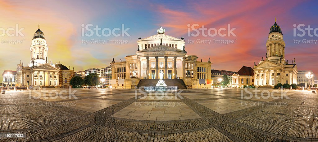 Gendarmenmarkt Berlin landmark in Berlin, Germany. stock photo
