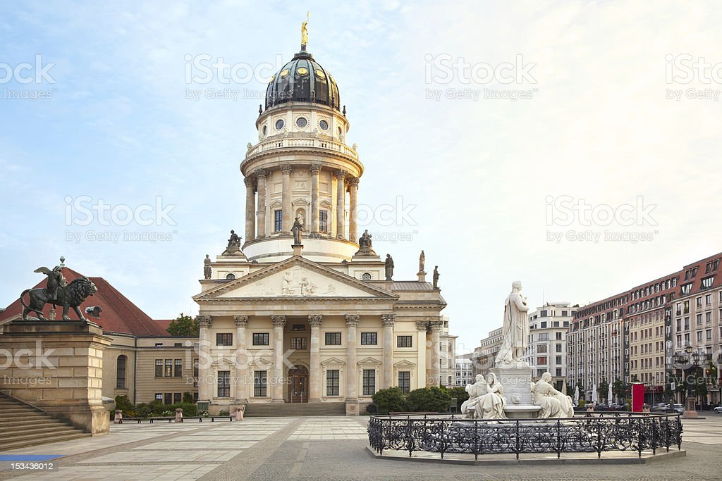 Gendarmenmarkt, French Cathedral, Berlin stock photo